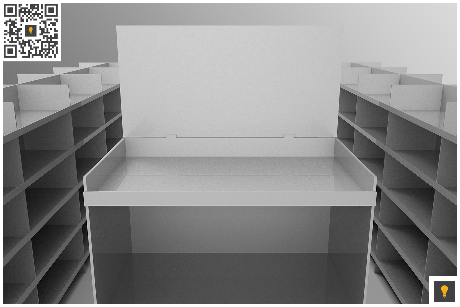 Aisle with Gondola Store 3D Render example image 4