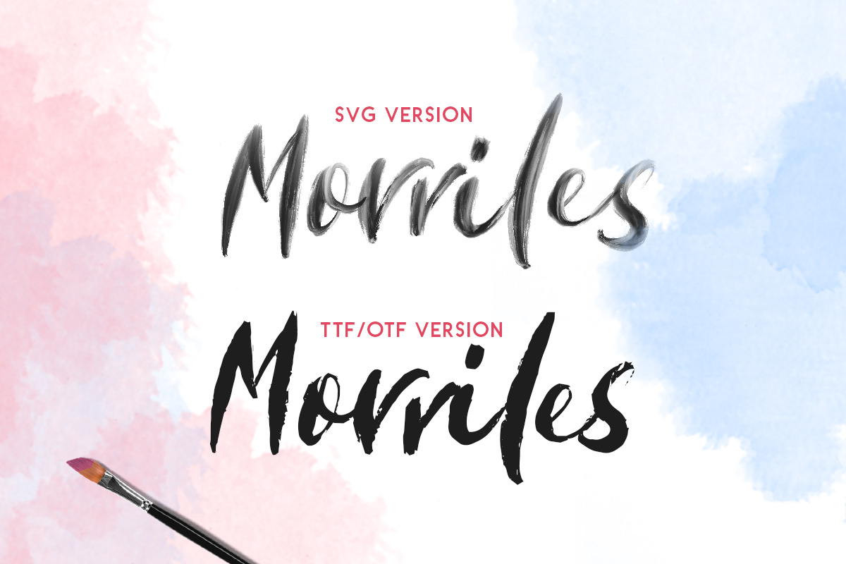 Morriles - SVG Font example image 8
