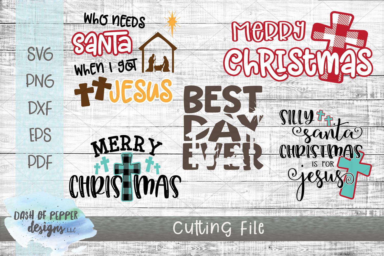 Mini Religious Christmas Bundle II - 5 SVG Designs example image 1