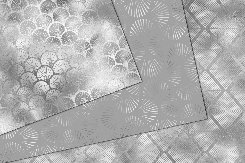 Silver Art Deco Digital Paper example image 4
