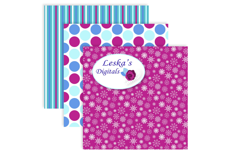 Frozen Digital Paper - Pattern Design example image 5