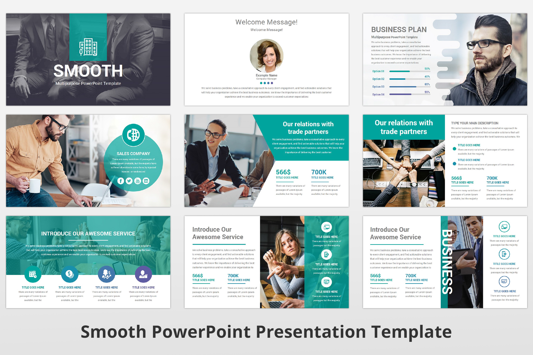 Smooth multipurpose PowerPoint Presentation Template example image 4