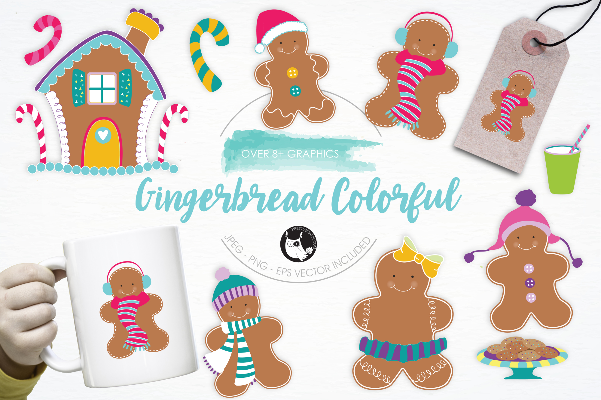 Gingerbread Colorful graphics and illustrations example image 1