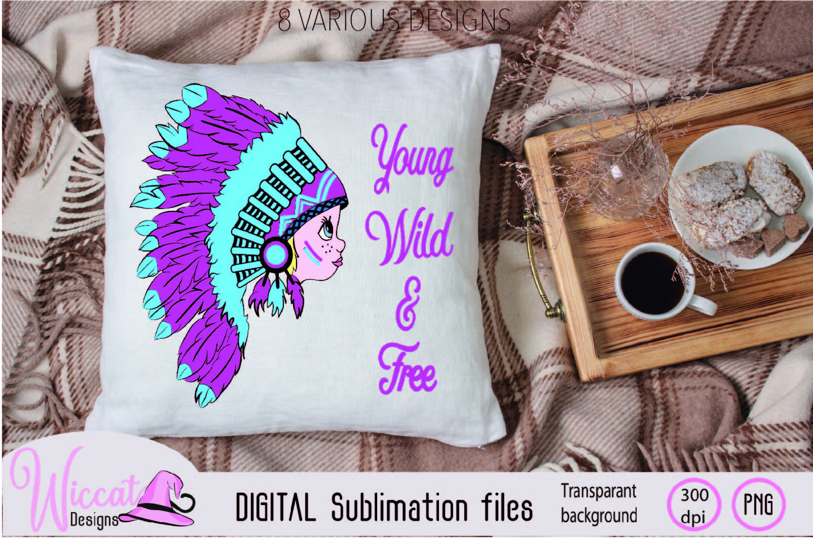 Girl with Headdress sublimation file example image 4