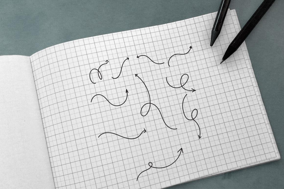 100 Hand Drawn Vector Arrows example image 7