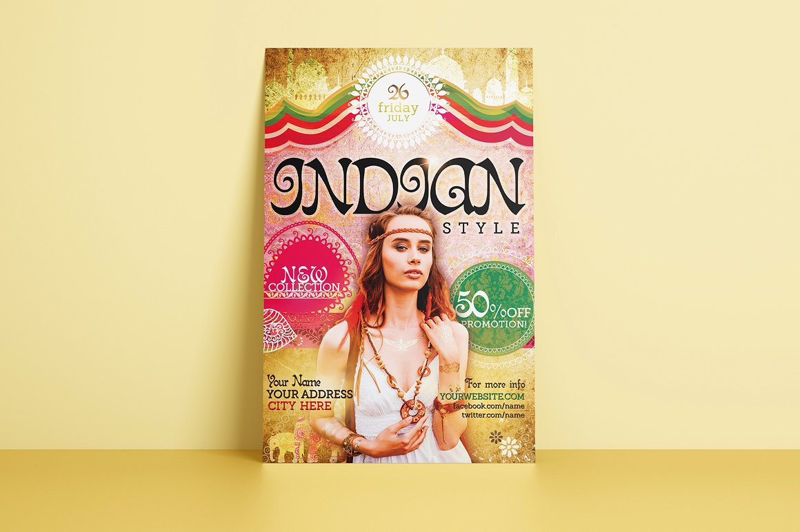 Indian Style Flyer Template example image 3