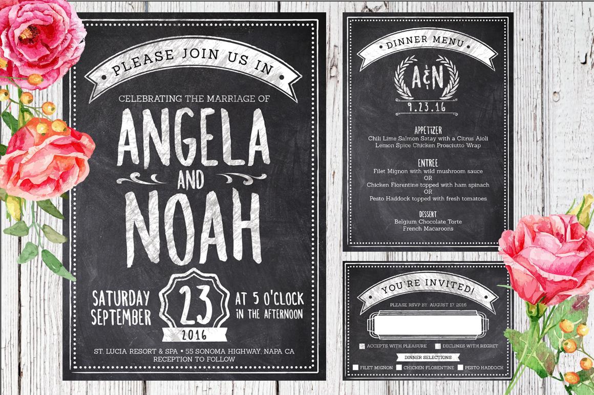 Massive Wedding Invite Bundle Flyer Save Date Bridal Shower  example image 8