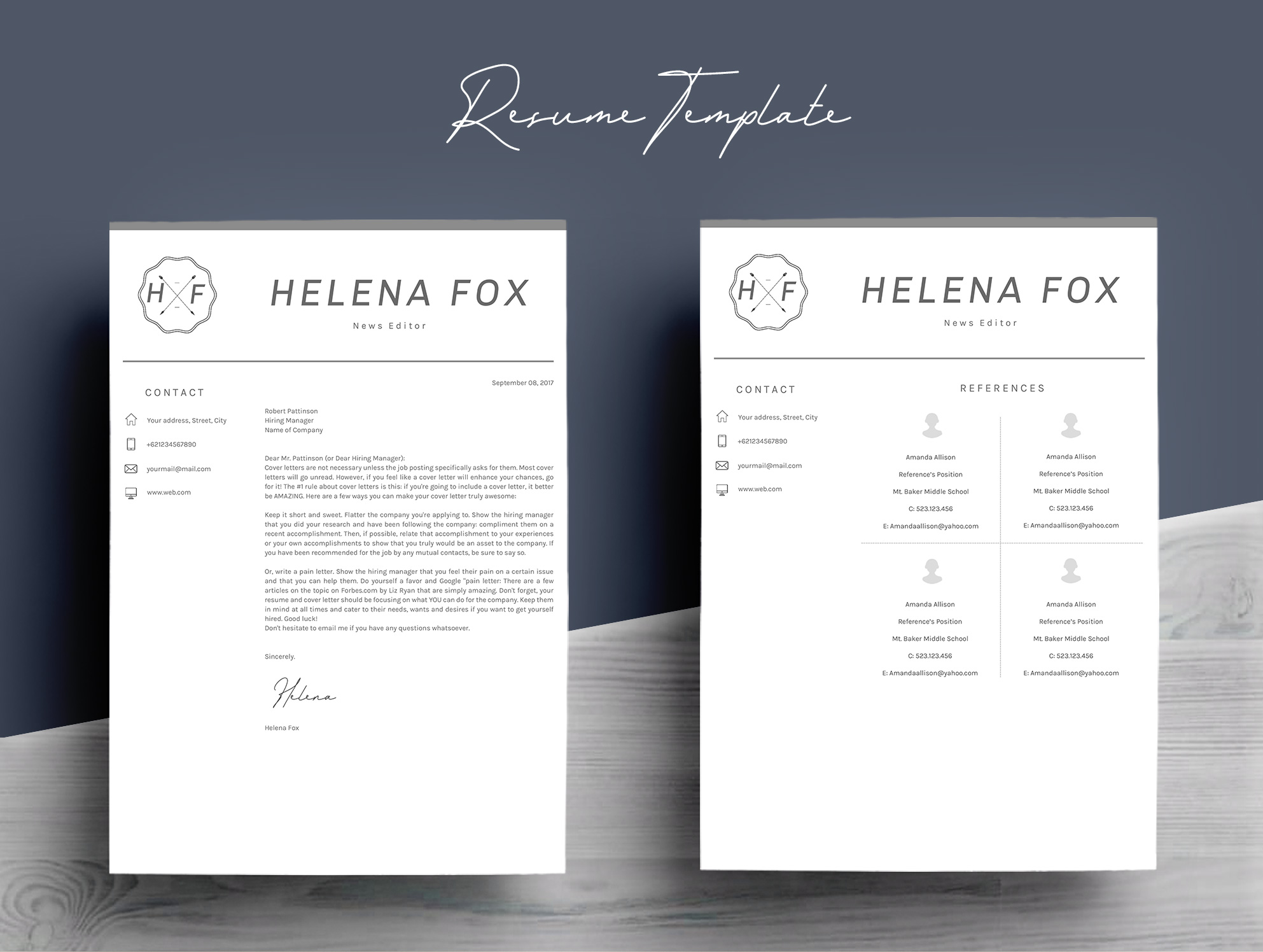 Creative Chic Resume Template 4 Pages example image 7