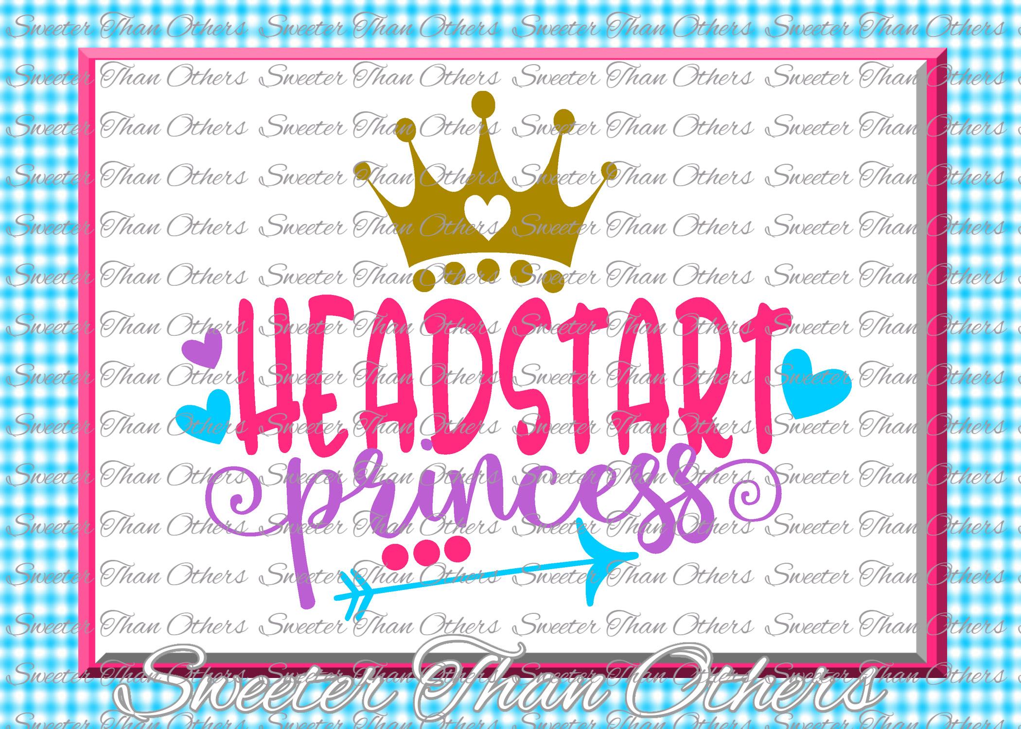 Headstart Princess SVG Headstart cut file Last Day of School example image 1