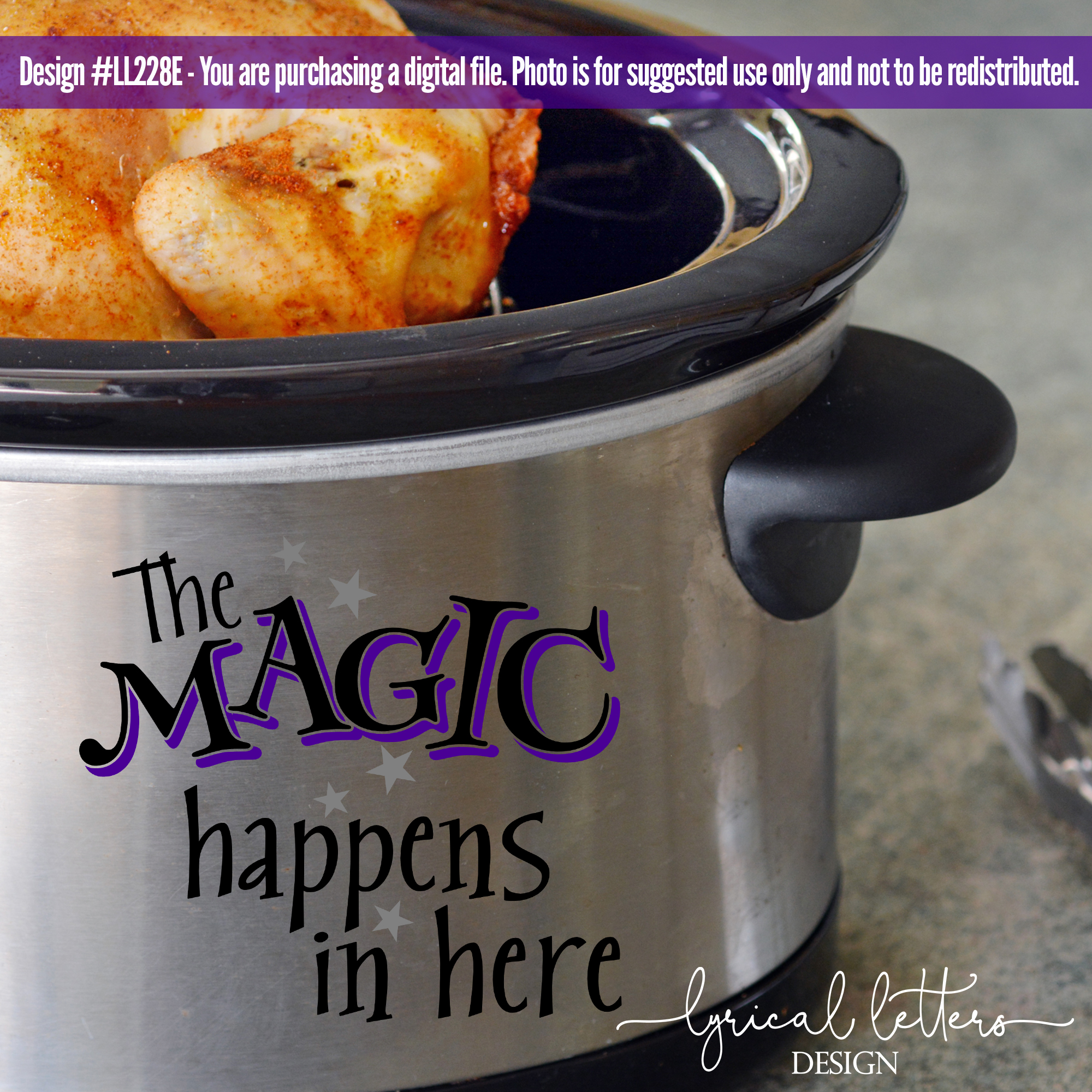 Slow Cooker Pressure Cooker Magic Happens In Here SVG LL228E example image 2
