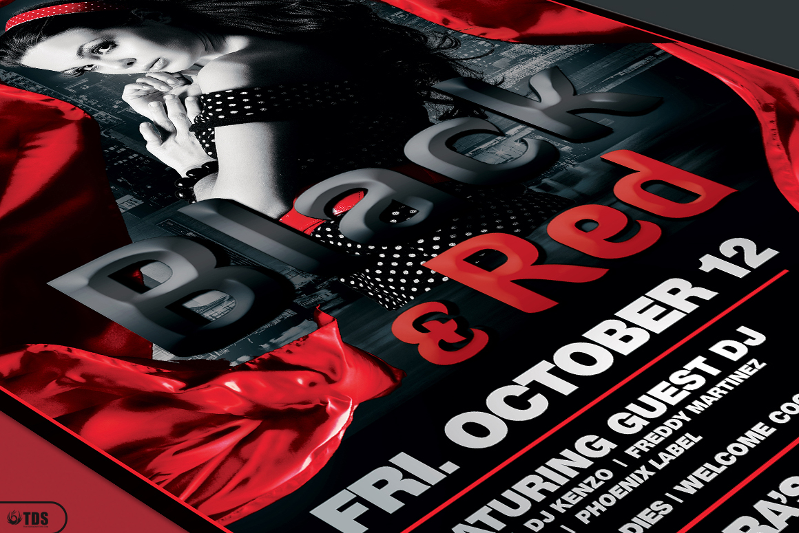 Black and Red Flyer Template V2 example image 5