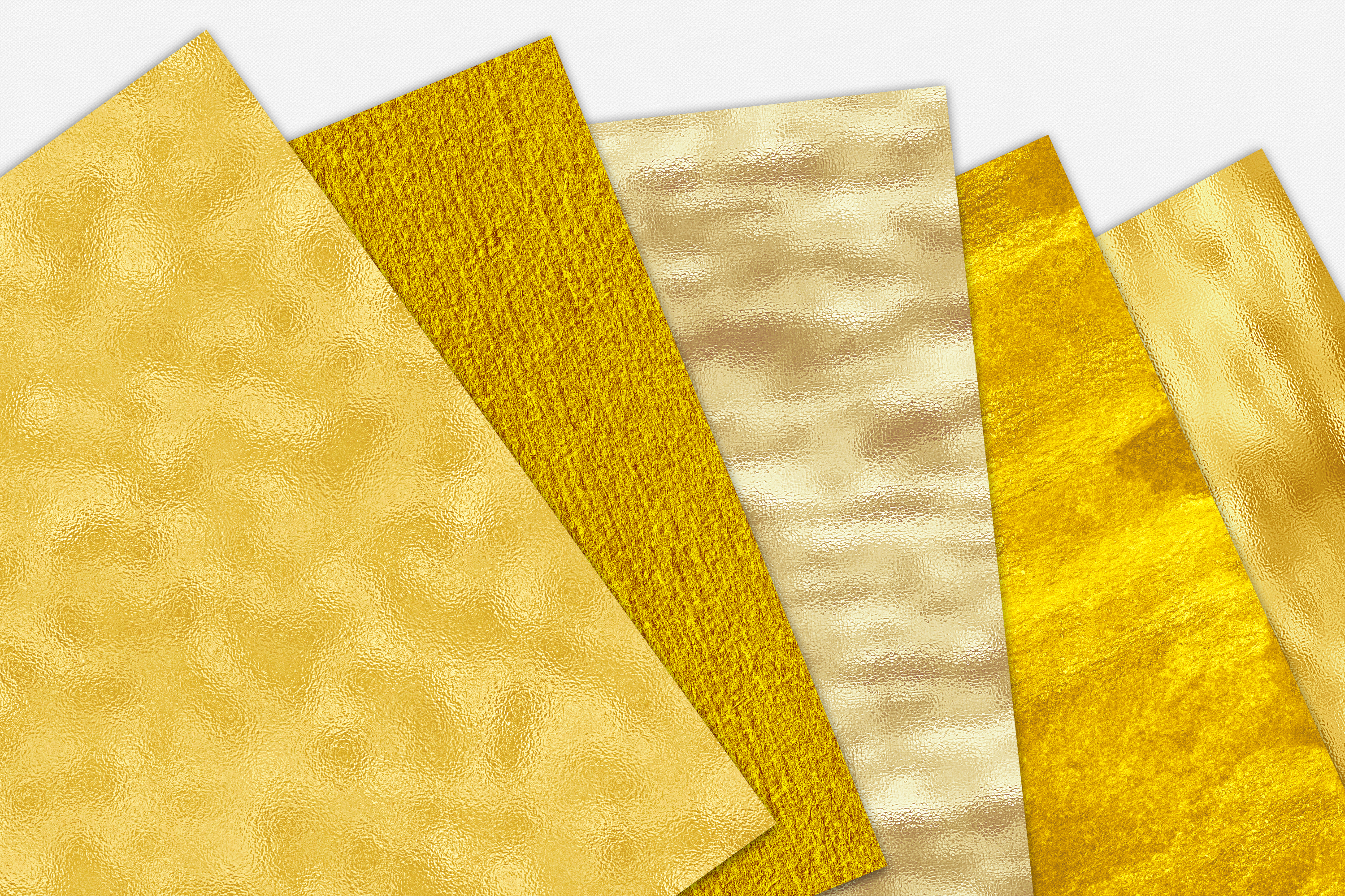Gold Foil and Glitter Textures - Metallic Digital Papers example image 7