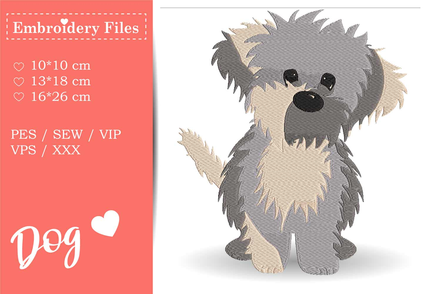 Dogs - Mini Bundle - Embroidery Files for Beginners example image 2