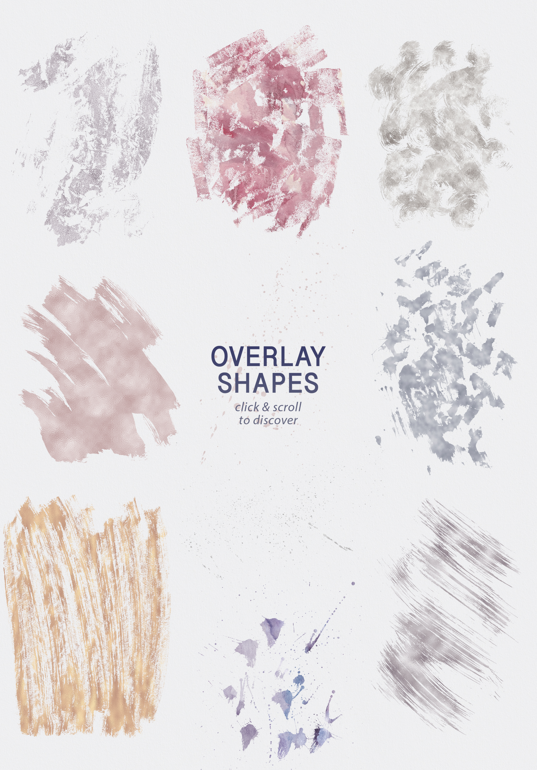 Seamless Textures & Patterns Bundle - Shabby Chic Design Kit example image 26