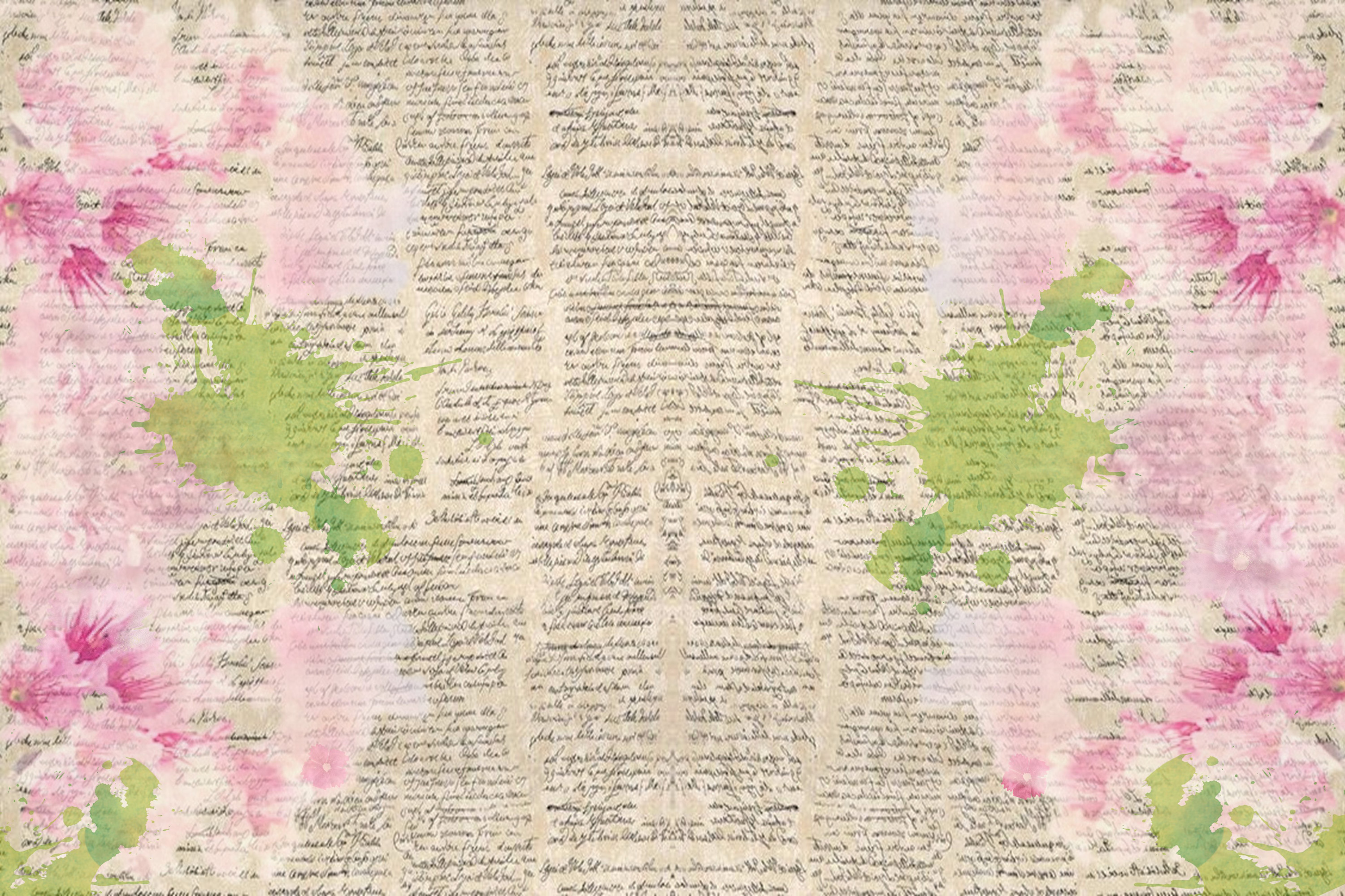 Watercolour Florals Journal Backgrounds 28 pages example image 4