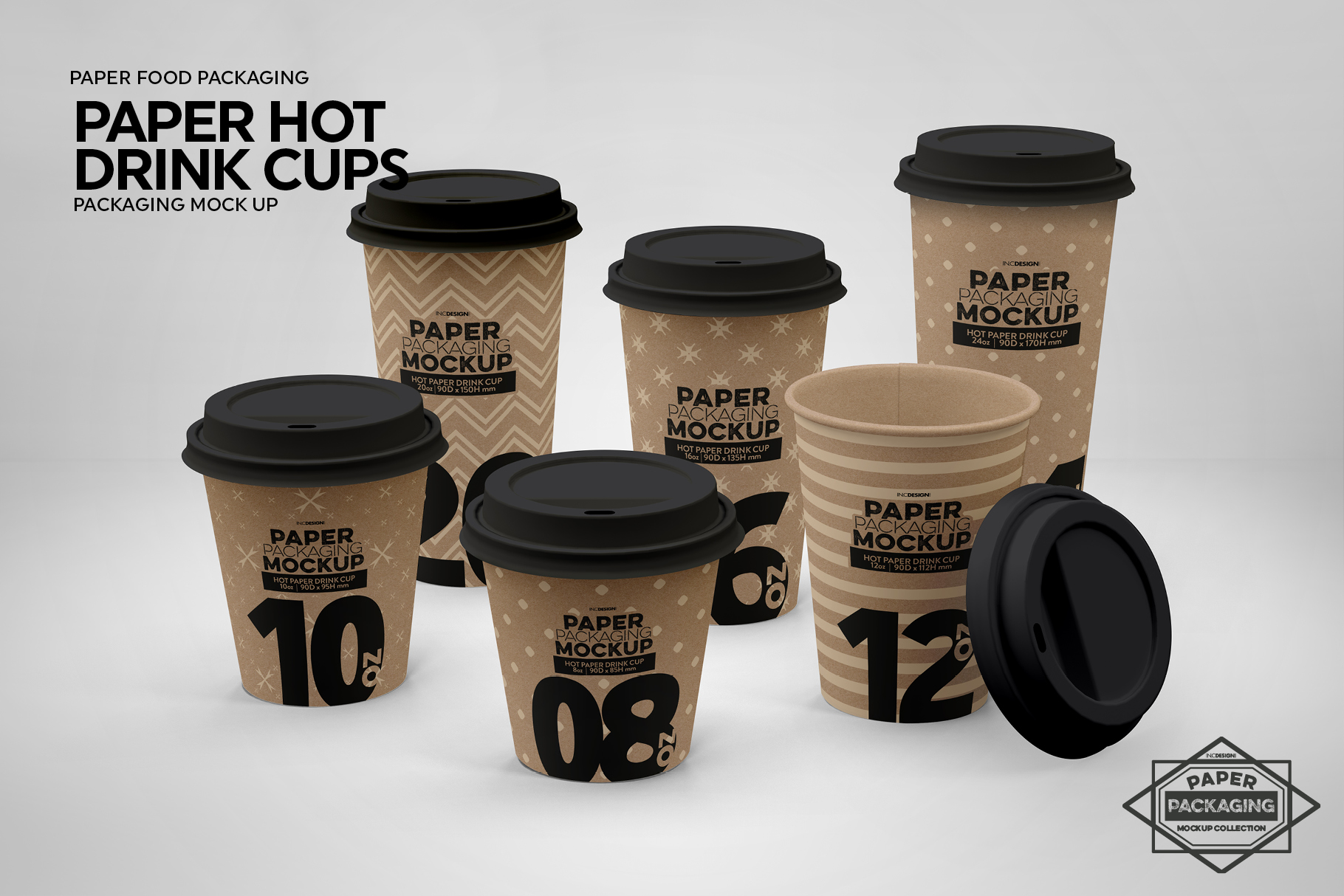 Paper Hot Drink Cups Packaging Mockup example image 5