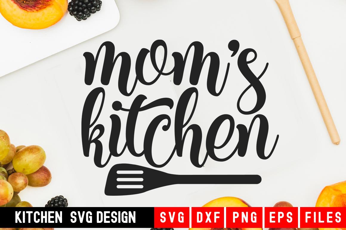 Mom's Kitchen Svg|kitchen svg|kitchen towel svg example image 1