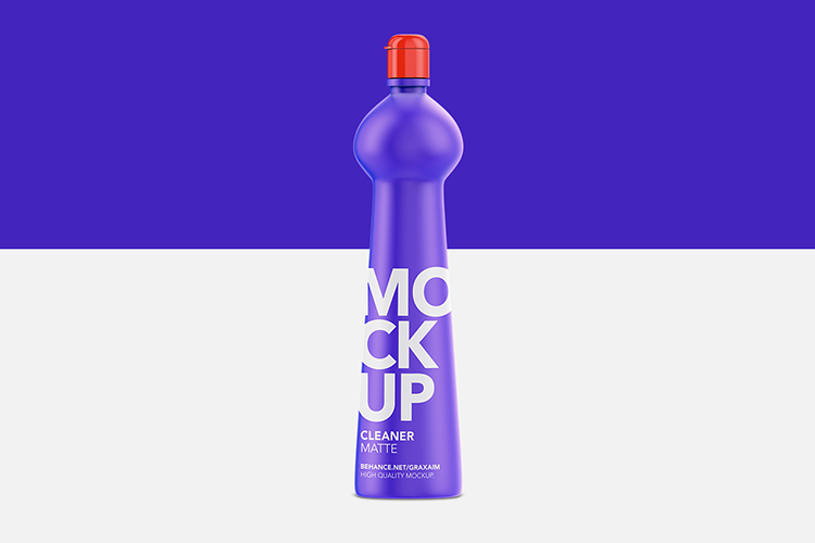 Cleaner Bottle Mockup - Matte - Front View example image 2