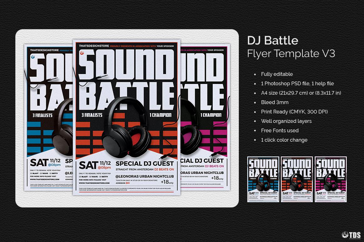 DJ Battle Flyer Template V3 example image 2