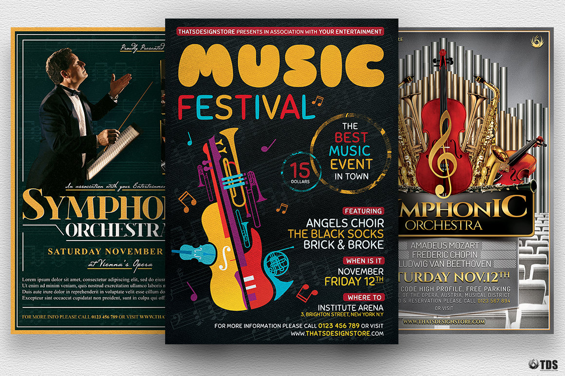 Special Orchestra Flyer Bundle example image 1