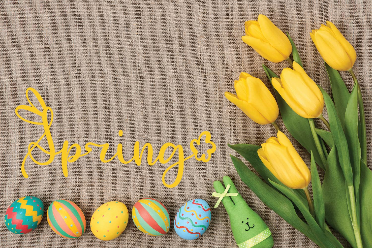 Rabbity - A Spring Font With Ears & Cotton Tails example image 4