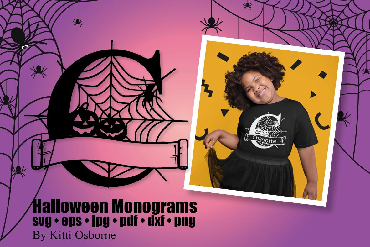 Halloween Split Monograms A-Z example image 3