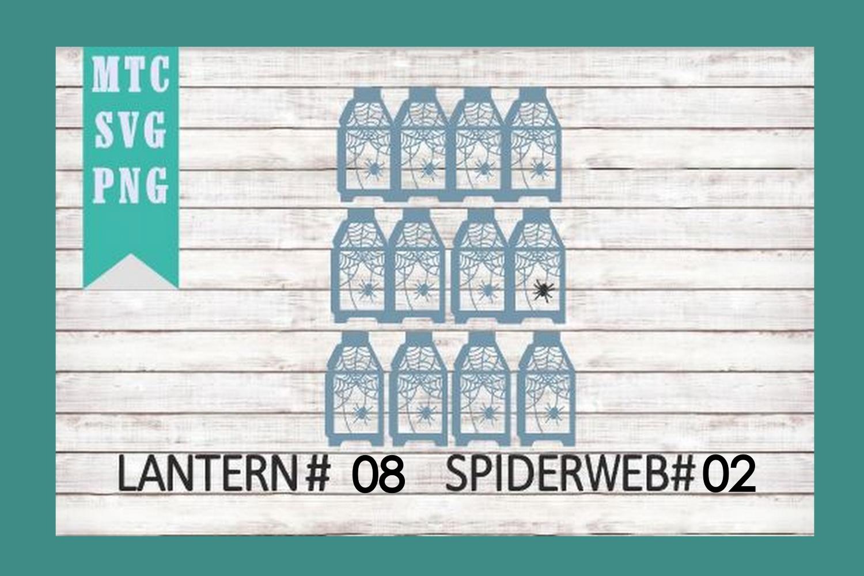 Halloween Lantern #08 Spiderweb #02 SVG Cut File example image 3
