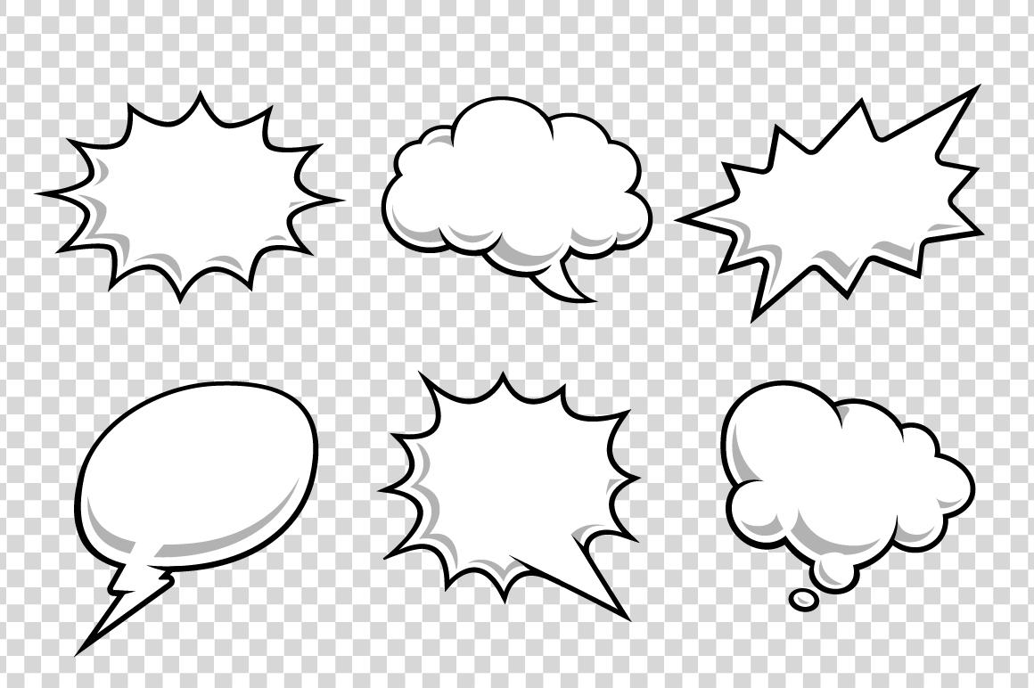 Comic Speech Bubbles example image 8