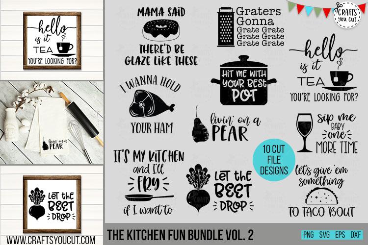 Funny Kitchen Bundle Vol. 2- A Kitchen SVG Cut File Bundle example image 1