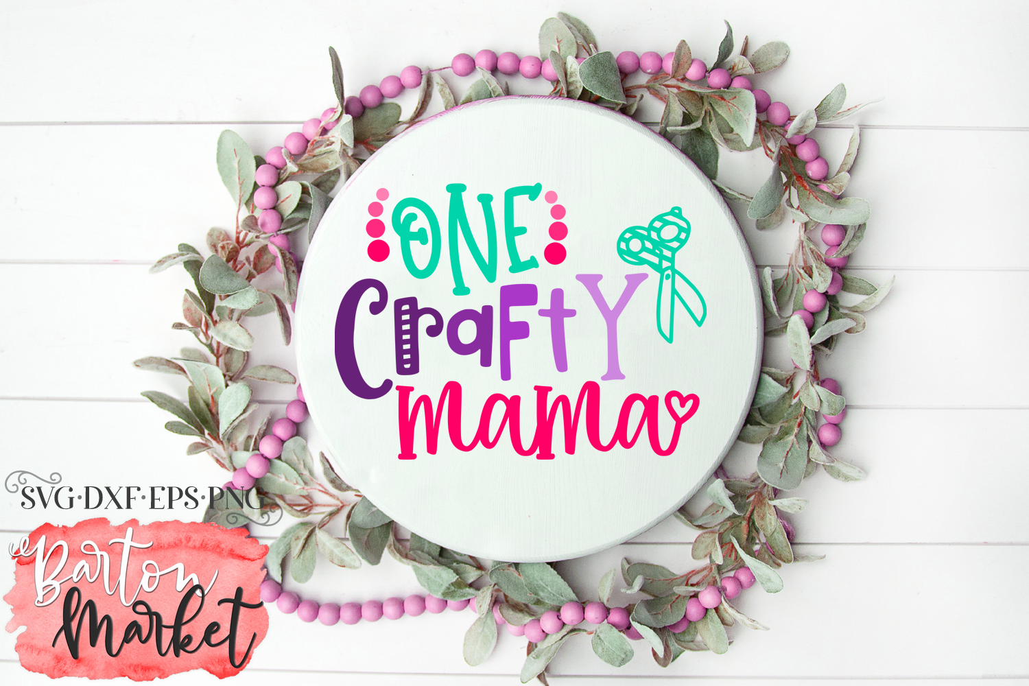 One Crafty Mama SVG DXF EPS PNG example image 1