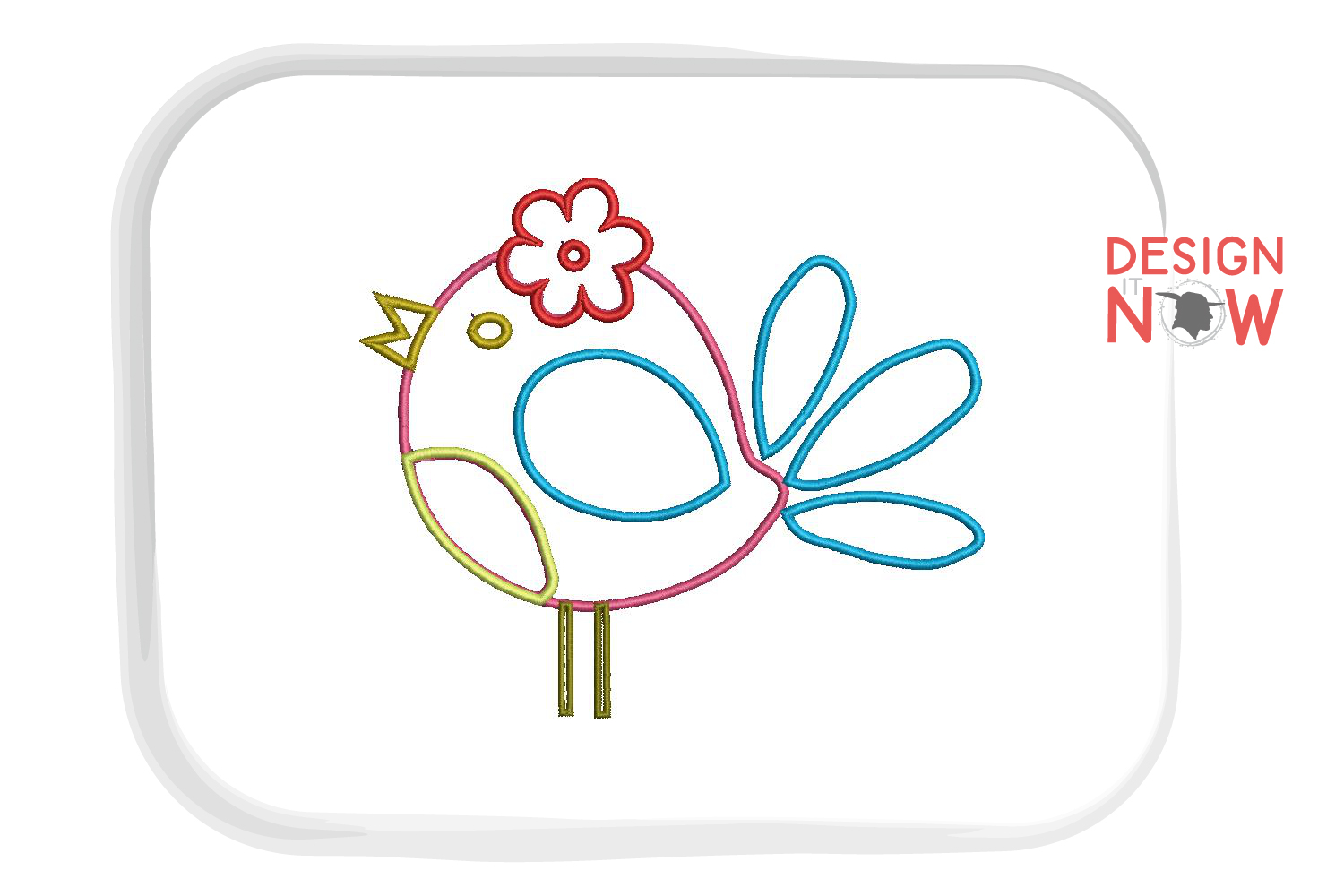 Bird Applique Embroidery Design, Bird Embroidery Pattern example image 4