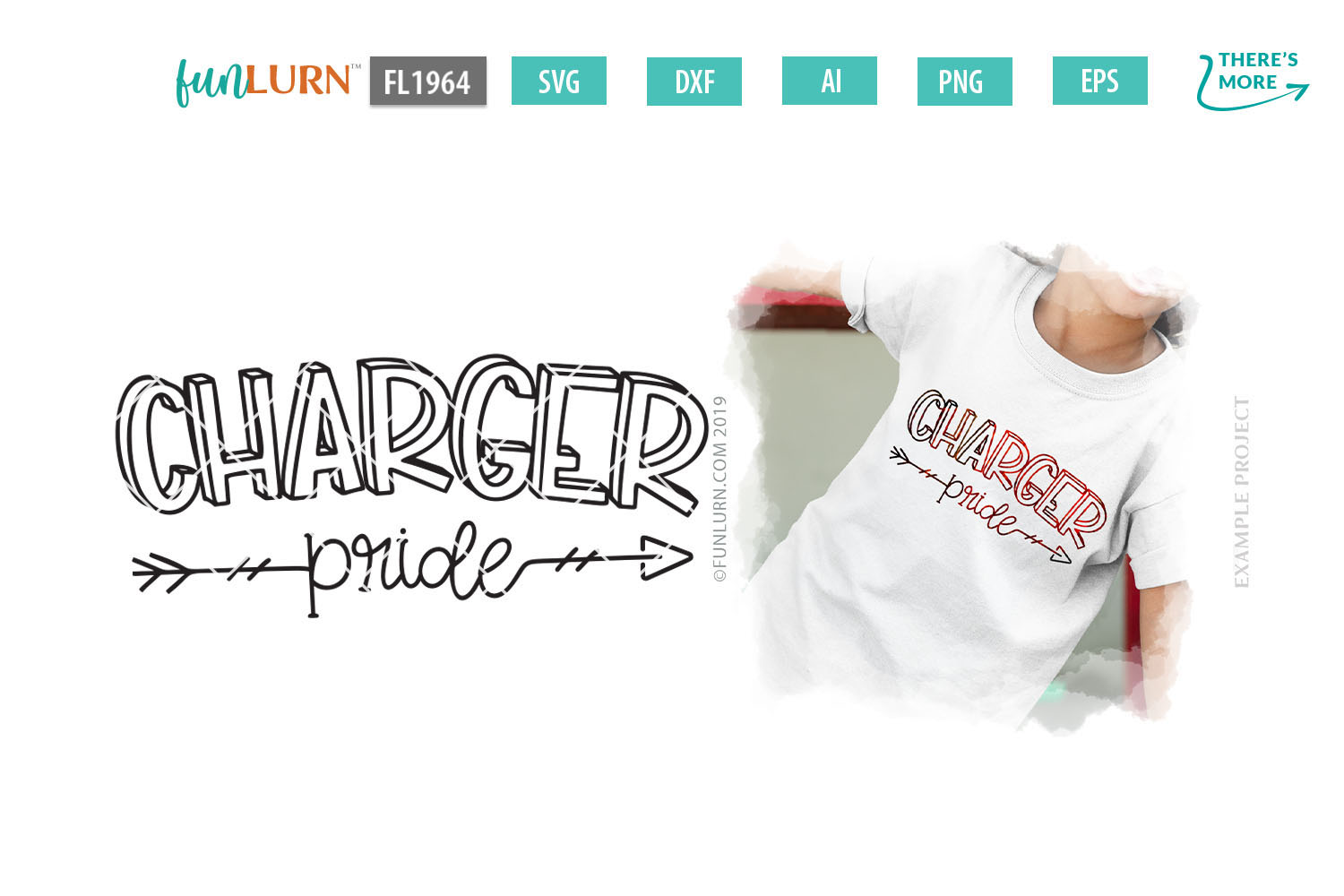 Charger Pride Team SVG Cut File example image 1