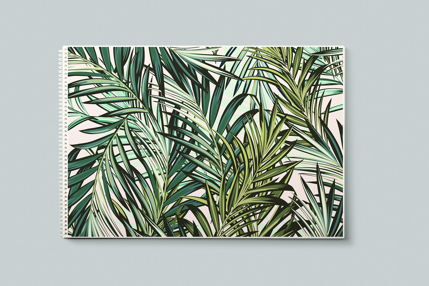 Palm leaves vector seamless pattern example image 3