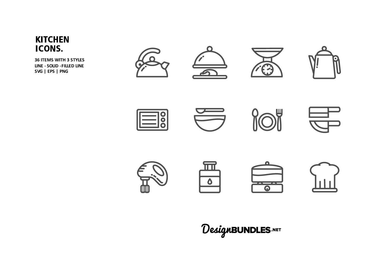 Kitchen Icons example image 2