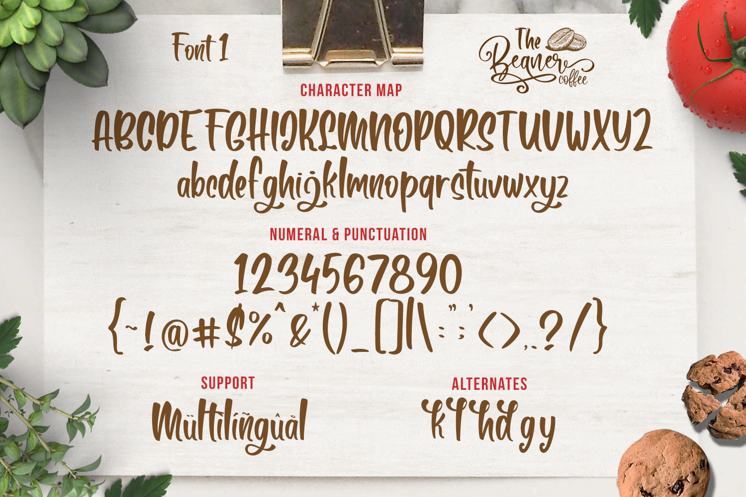 The Beaner - 5 Font & 41 Clipart example image 15