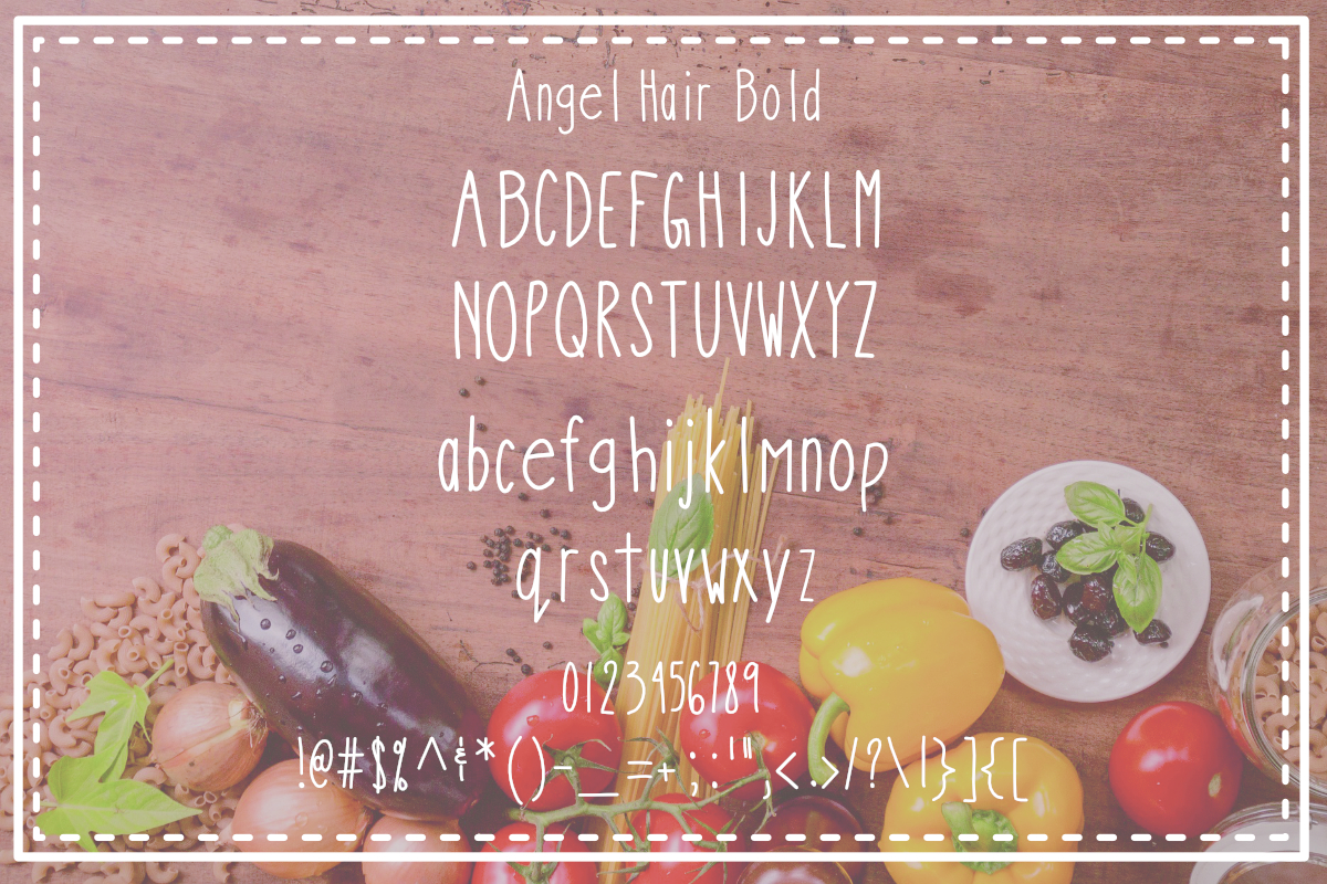 Angel Hair Pasta Font Trio example image 3