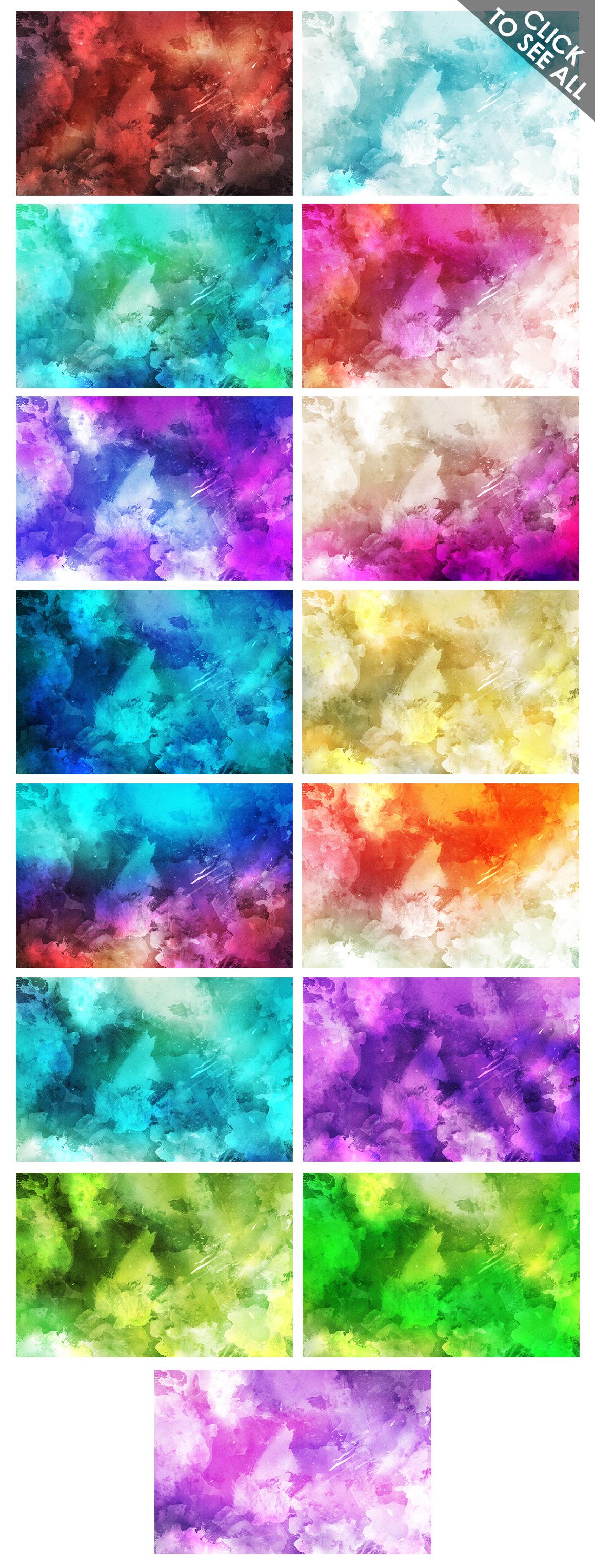 Watercolor Backgrounds 2 & Bonus example image 4