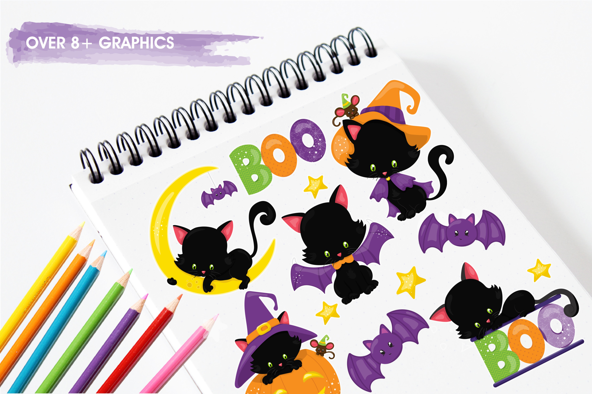 Halloween Kittens graphics and illustrations example image 3