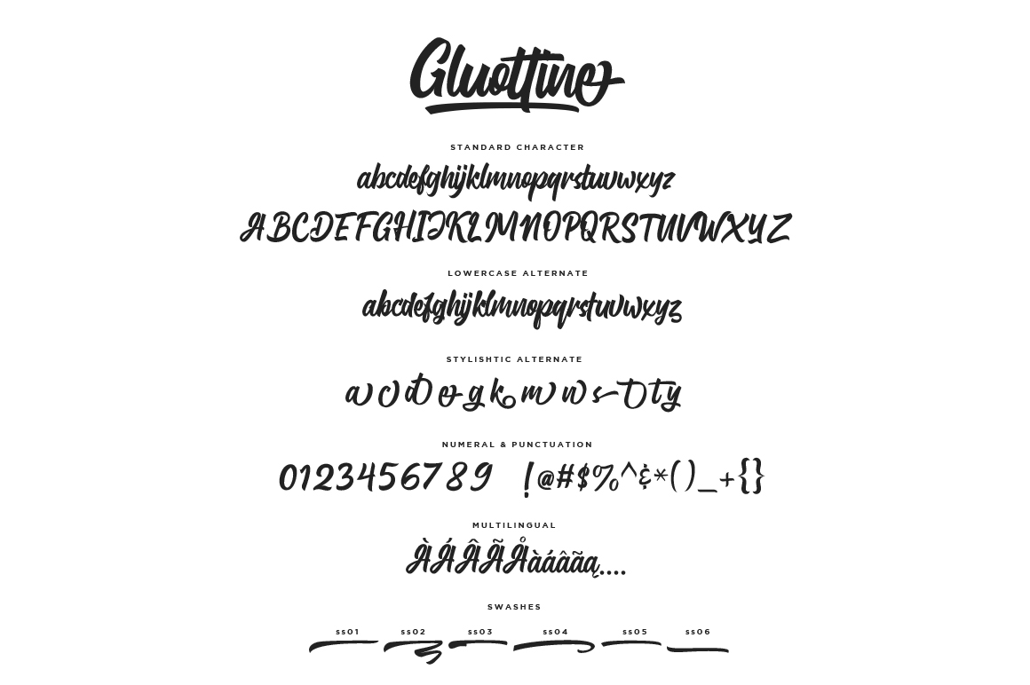 Gluottine Typeface example image 8