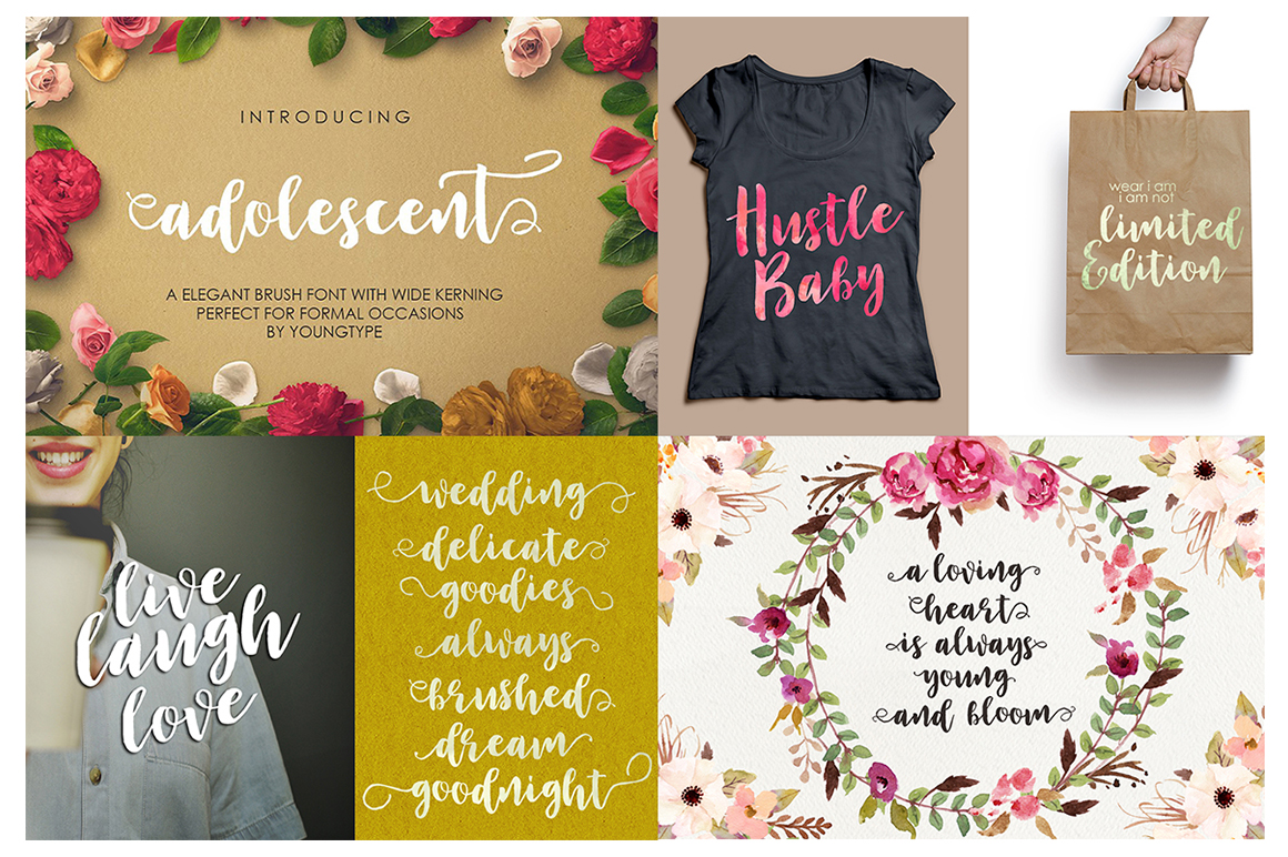 The Handlettered Font Collection example image 7