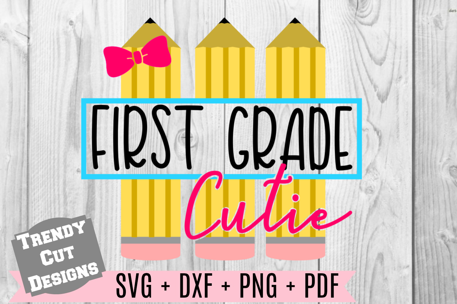 Pencil First Grade Set, Back to School example image 1