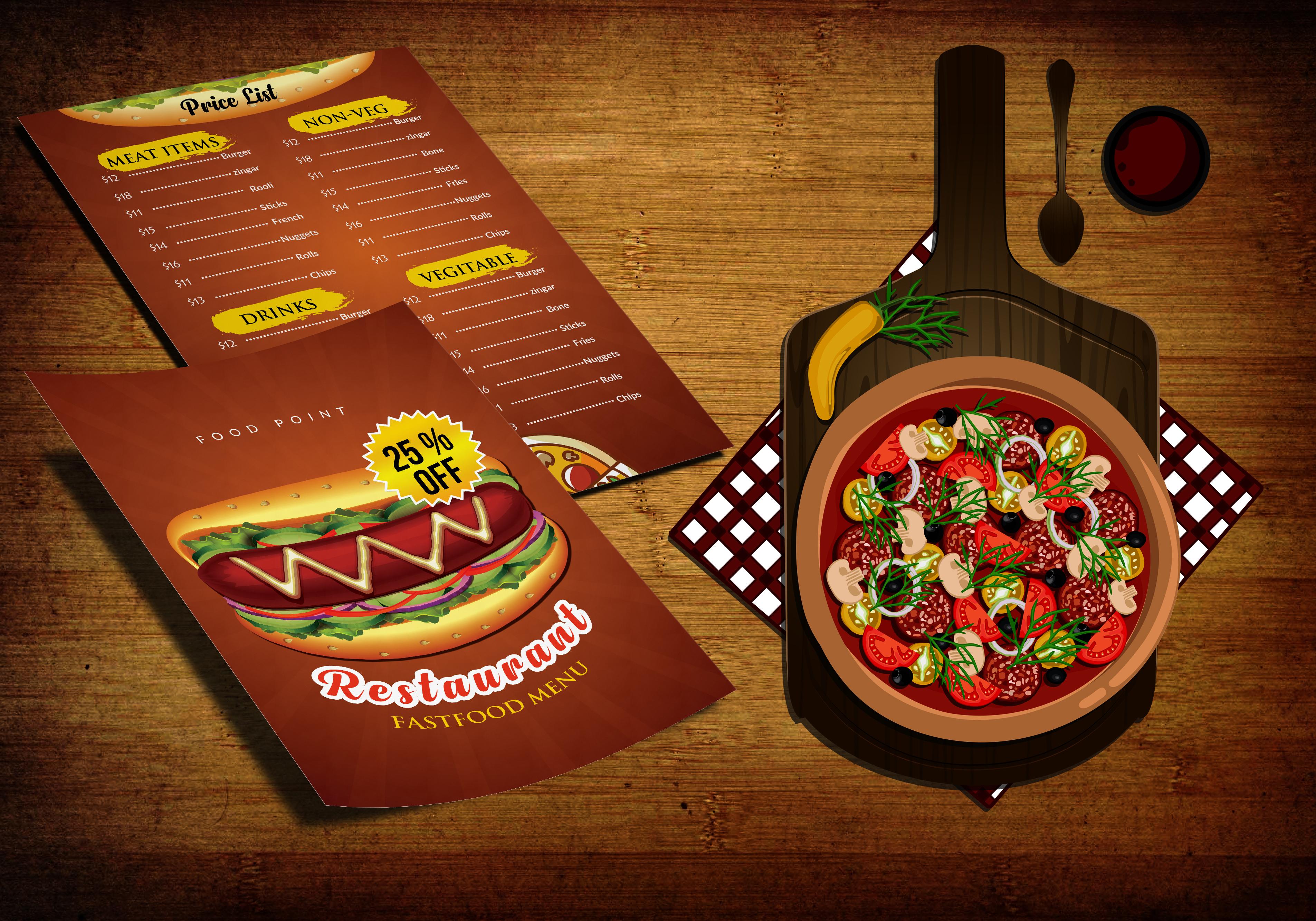 Restaurant Menu Flyer example image 3