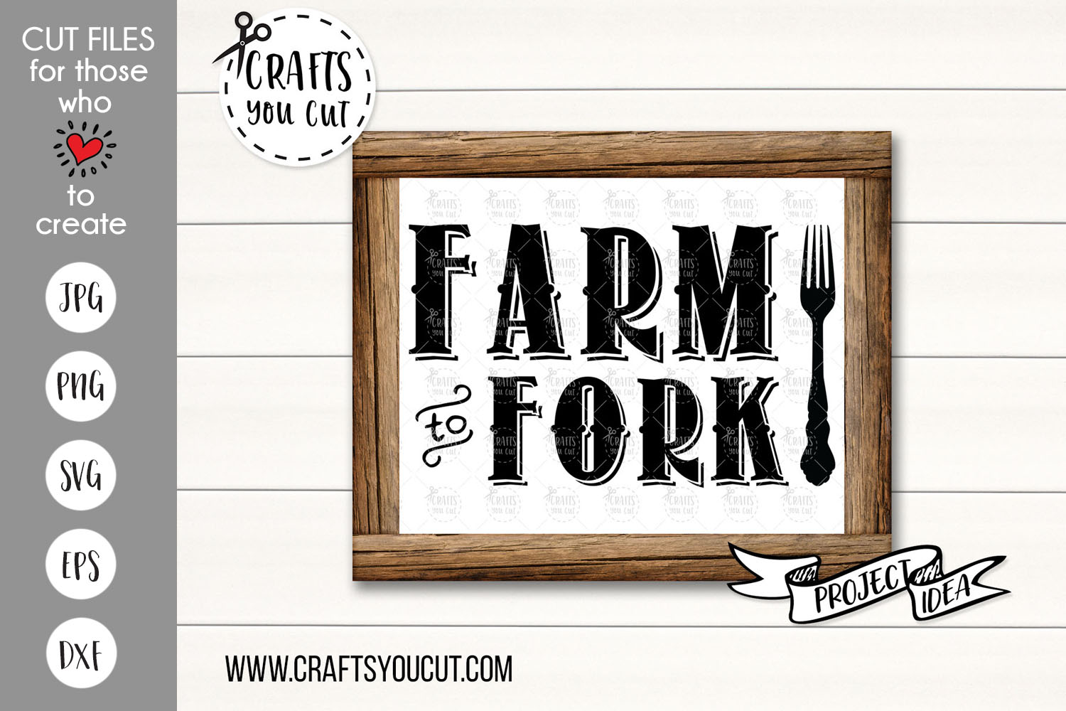 Farm To Fork - A Farmhouse Kitchen SVG Cut File example image 1