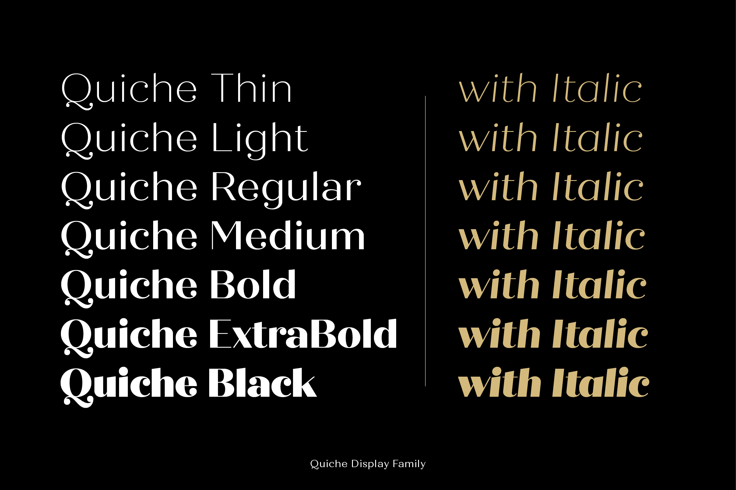Quiche Font Family example image 11