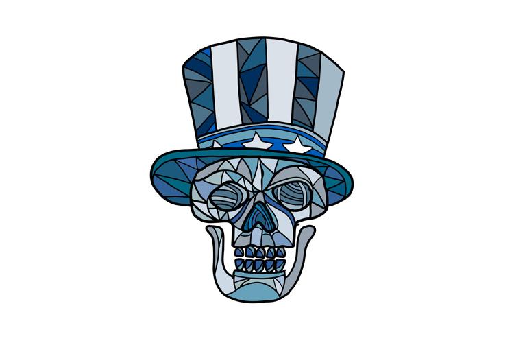 Uncle Sam Skull Mosaic example image 1
