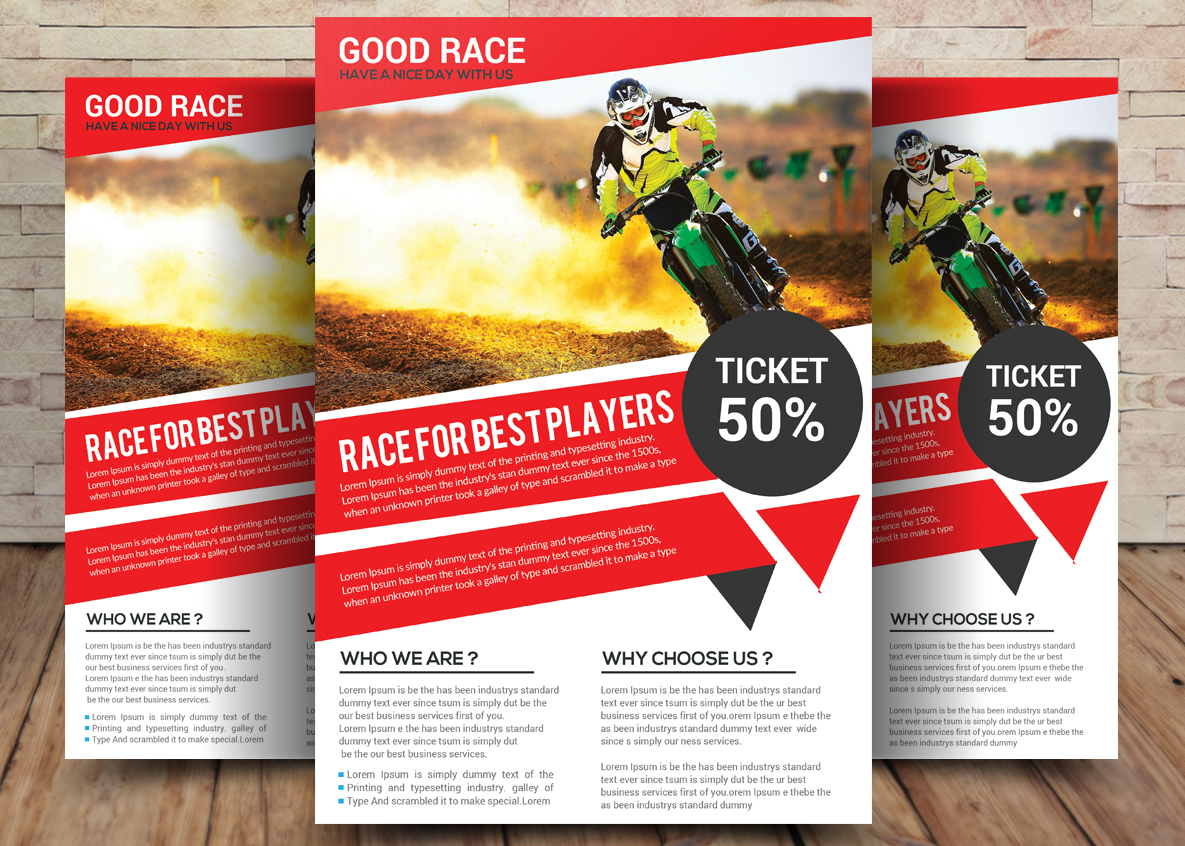 Motor Cycle Flyer example image 1
