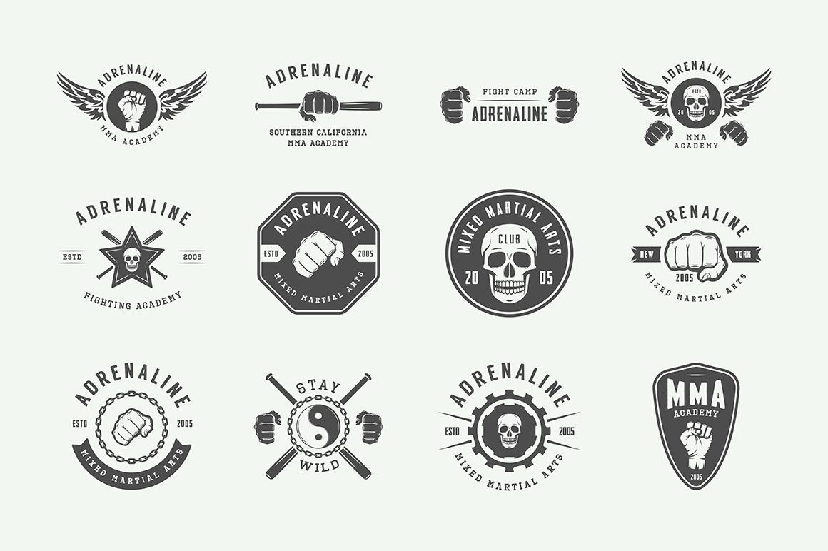 Vintage Fighting Emblems Bundle example image 5