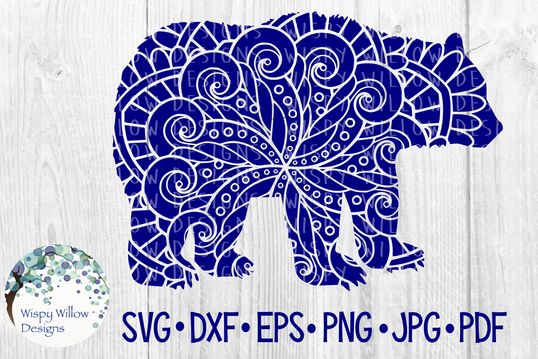 Woodland Animal Mandala Bundle, Fox, Deer, Bear, Moose SVG example image 2