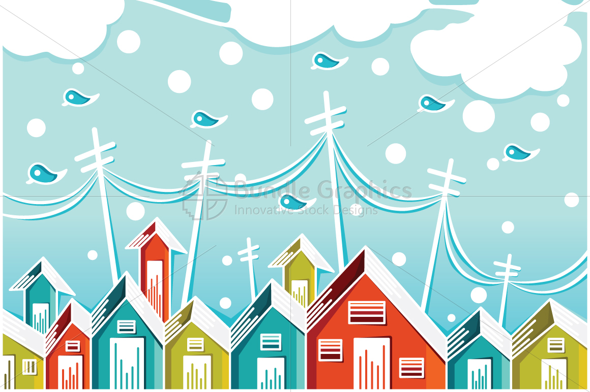 City Houses - Illustrative Background example image 1