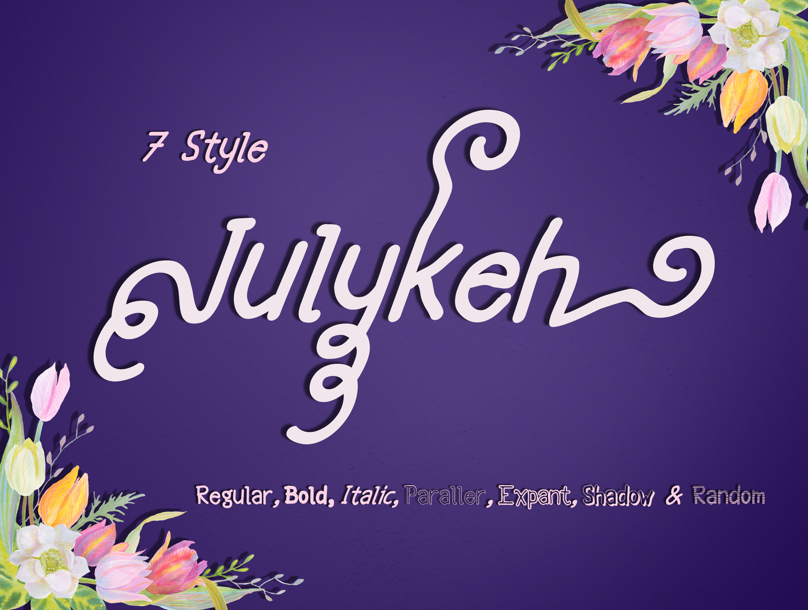 Julykeh handmade 7 Style Font example image 2
